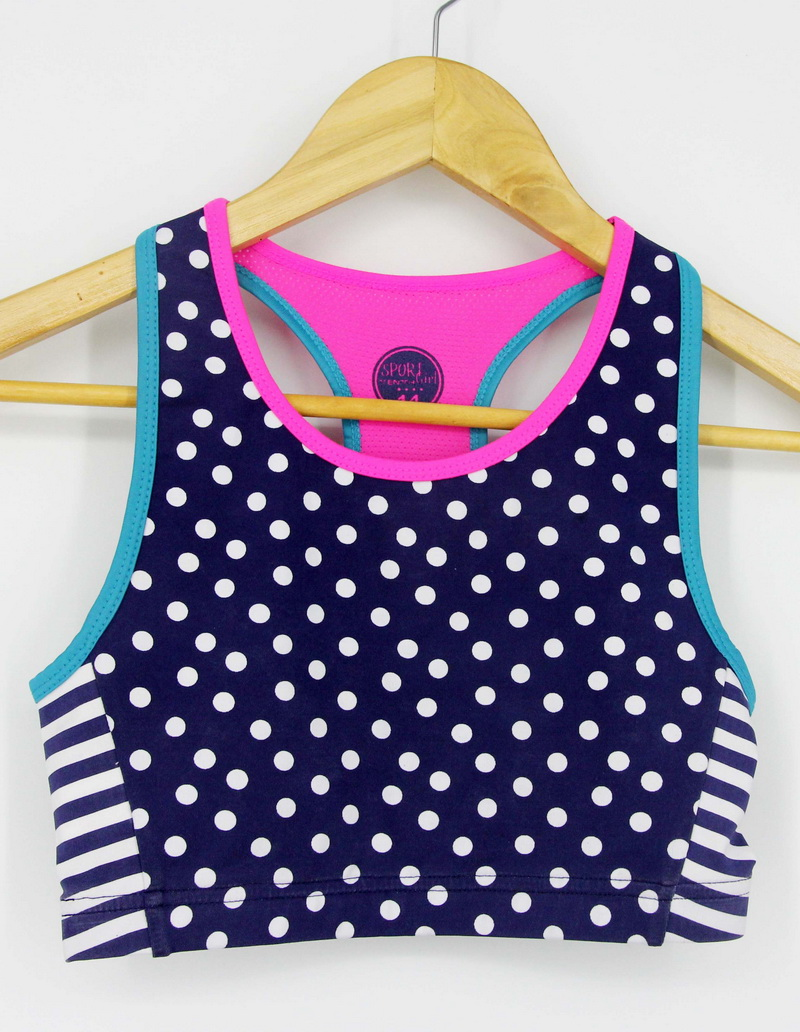 Girls sportswear top fitness clothing